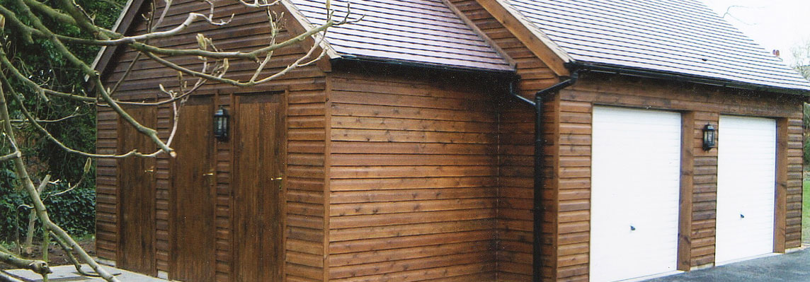 timber garage by jones joiners ltd ashbourne